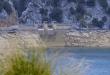 Stausee Gorg Blau auf Mallorca bei Niedrigwasser